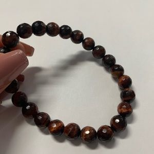 Jewelry - Natural red tiger eyes stretch bead bracelet